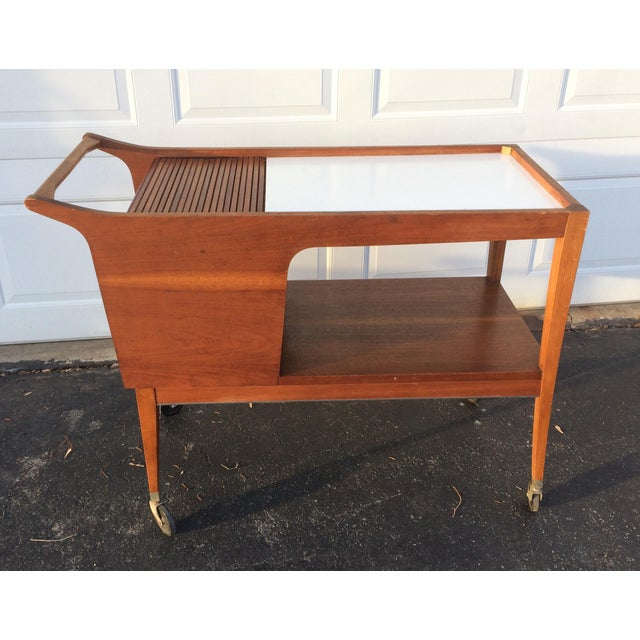 Mid-Century Modern Bar Cart - Image 2 of 9