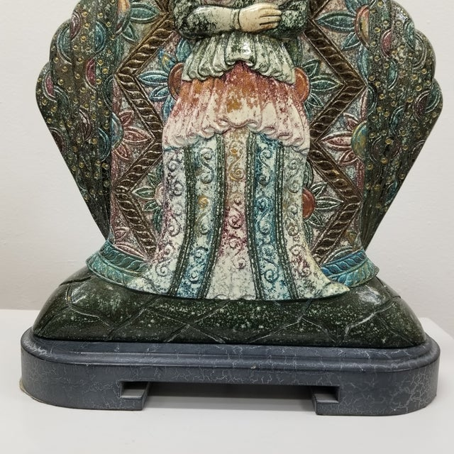 Asian Vintage Asian Goddess Lamps-A Pair For Sale - Image 3 of 7