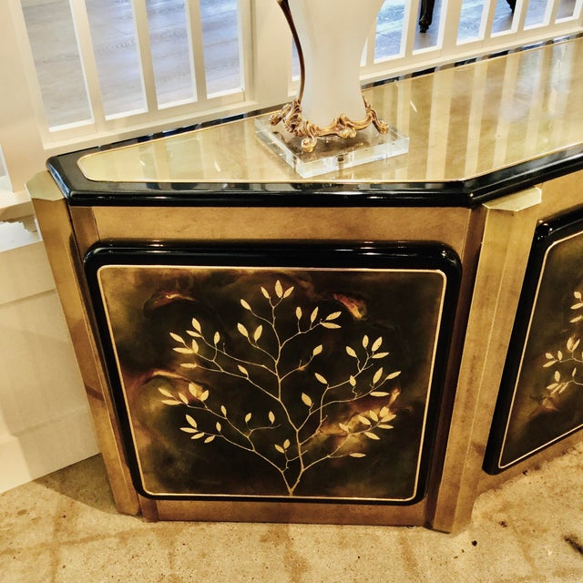 "Metal Mastercraft ""Tree of Life"" Cabinet For Sale - Image 7 of 10"