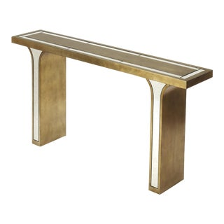 Butler Specialty Katya Silver Leaf Console Table