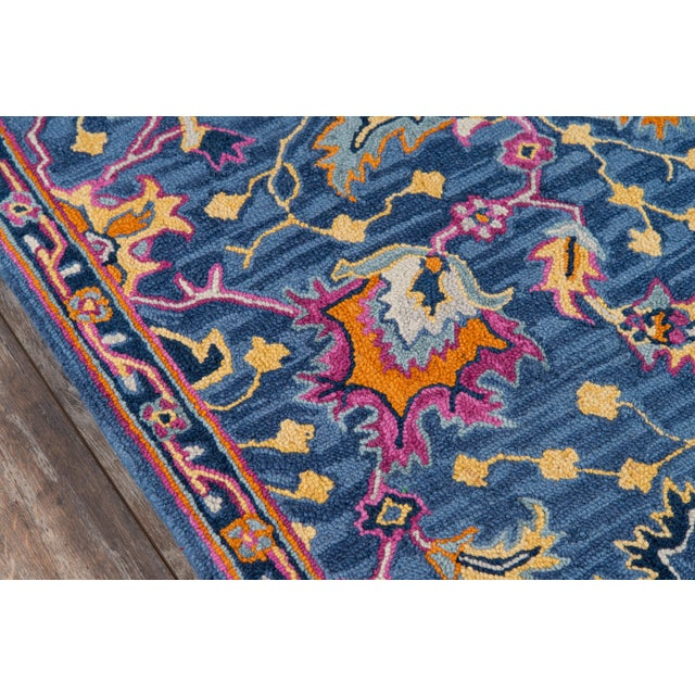 Traditional Ibiza Blue Hand Tufted Area Rug 6' X 9' For Sale - Image 3 of 8