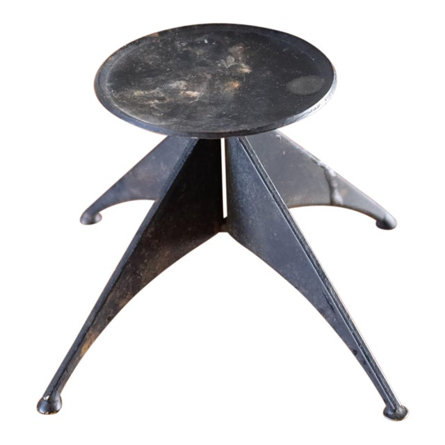 Brutalist Metal Candle Holder For Sale