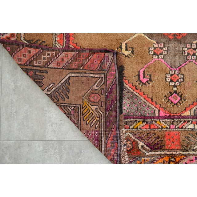 Hand Knotted Natural Colors Tribal Rug - 5′3 ″ x 13′1″ - Image 9 of 10