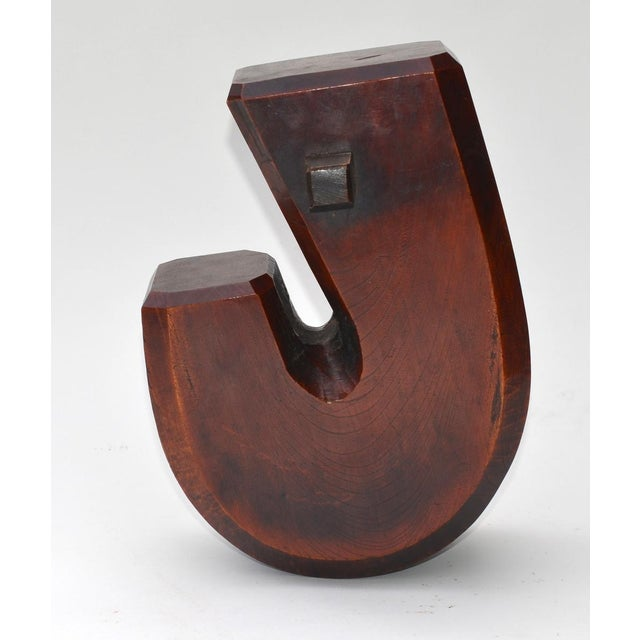 Wood Antique Japanese Jizai Hearth Hook For Sale - Image 7 of 7