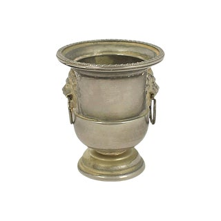 Silver-Plate Match & Toothpick Holder For Sale