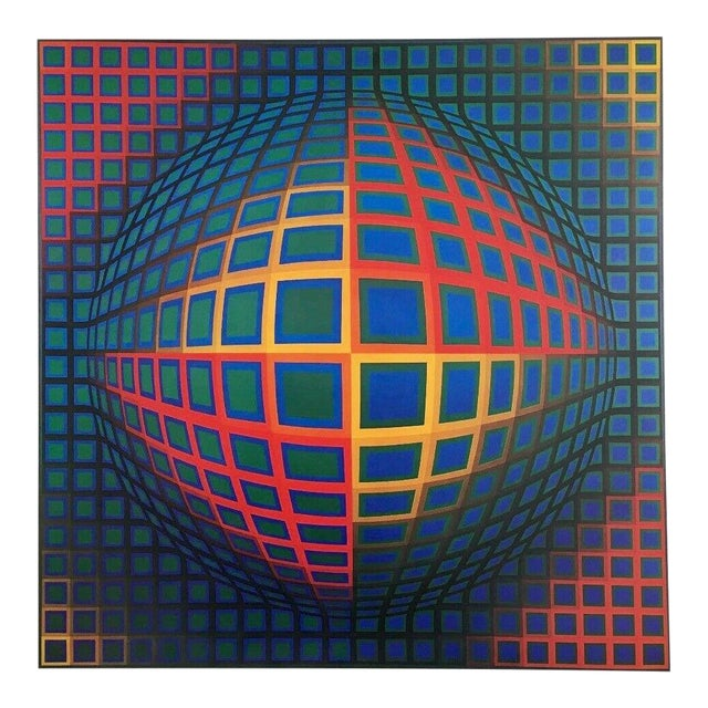 Victor Vasarely VEGA NOR, Exhibition Poster Circa 1980 For Sale