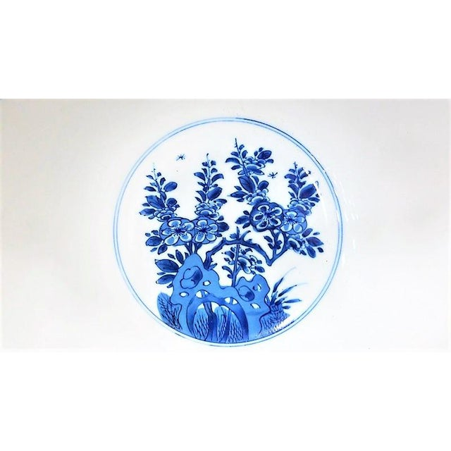Ceramic 1990s Vintage Mottahedeh Monteith Blue and White Bowl For Sale - Image 7 of 8