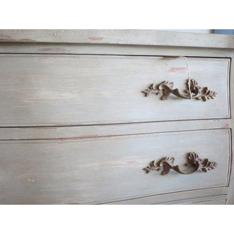 Antique Louis XV Weathered Grey Refinished Dresser - Image 4 of 8