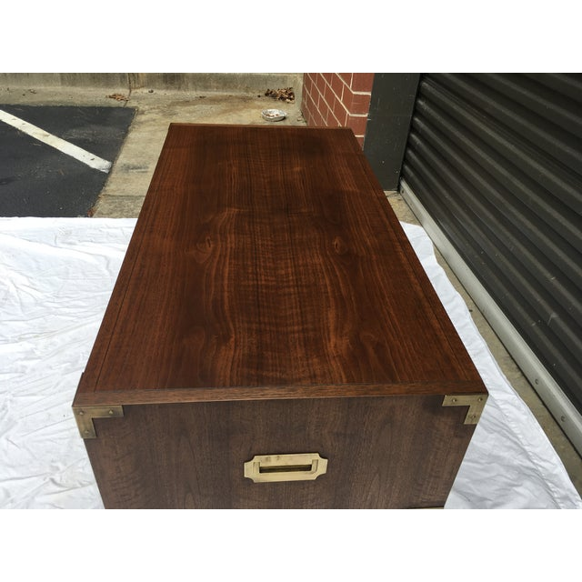 Baker Furniture Company Baker Furniture Low Campaign Chest For Sale - Image 4 of 12
