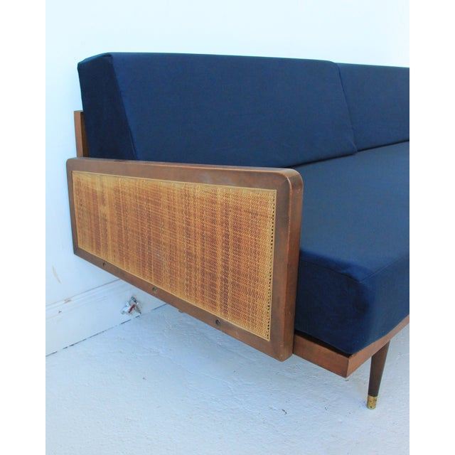 Vintage Mid Century Modern Navy Blue Sectional For Sale - Image 5 of 10