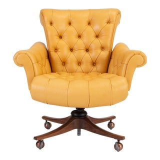 "Model 932 ""In Clover"" Executive Office Chair by Edward Wormley for Dunbar"