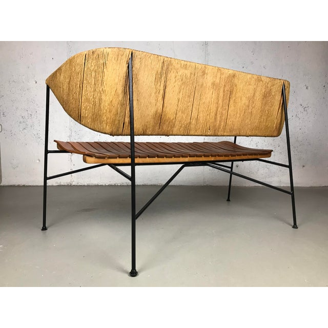 Modernist Settee by Arthur Umanoff for Shaver Howard & Raymor Loveseat Bench Sofa Couch For Sale - Image 9 of 13
