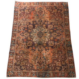 1940s Persian Bakhtiari Rug-6′4″ × 9′5″ For Sale