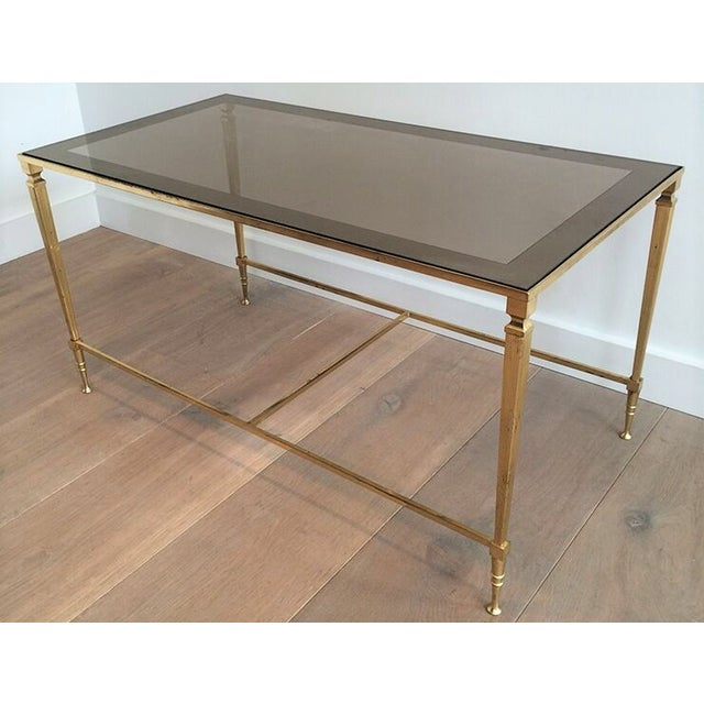 1940's Nesting Coffee Table With Smoked Portrait Glass For Sale - Image 4 of 7