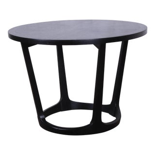Ebonized Sculpted Walnut Side Table by Lane For Sale
