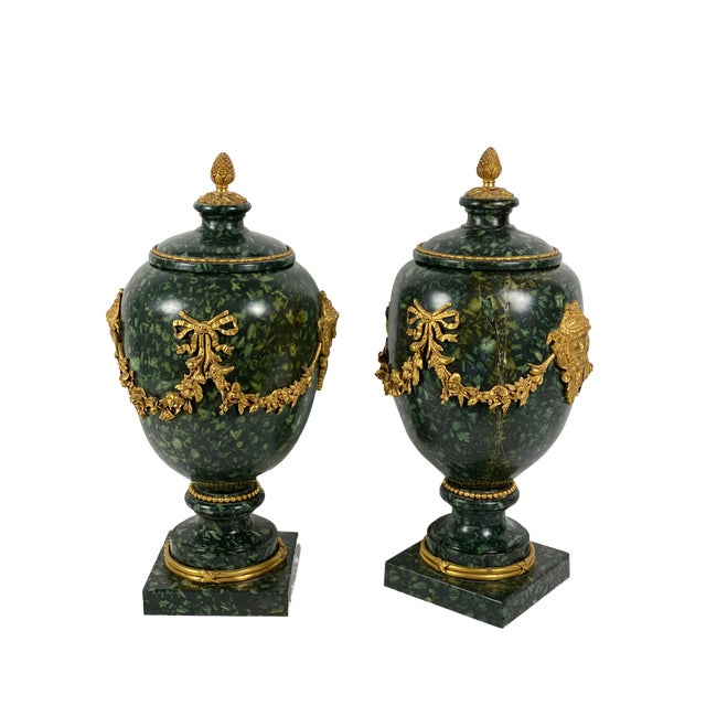 Early 18th Century Italian Porphyry Vases With Bronze Dore Mounts - a Pair For Sale