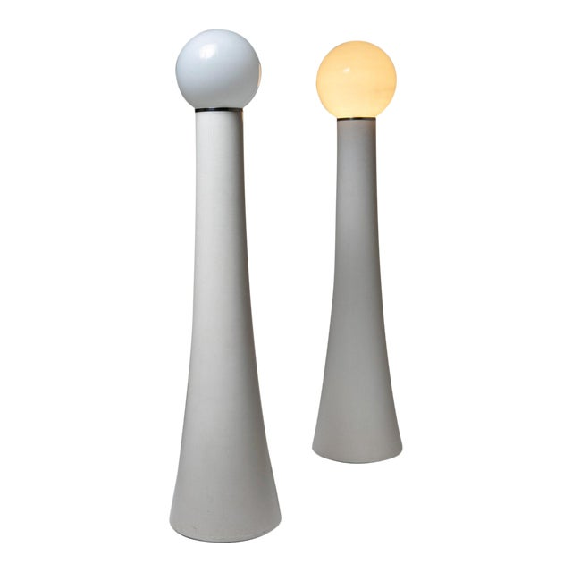 """Set of Two Floor Lamps """"Kd59"""" by Annig Sarian for Kartell For Sale"""