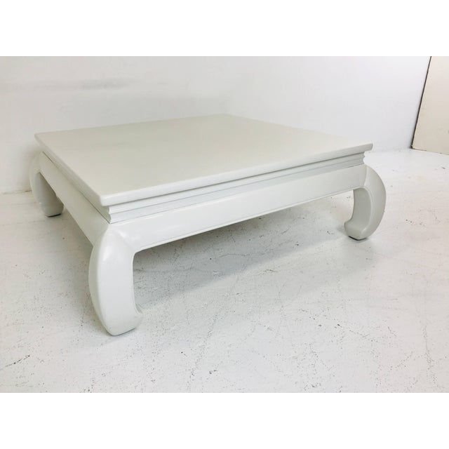 Asian Lacquered Ming Style Coffee Table For Sale - Image 3 of 7