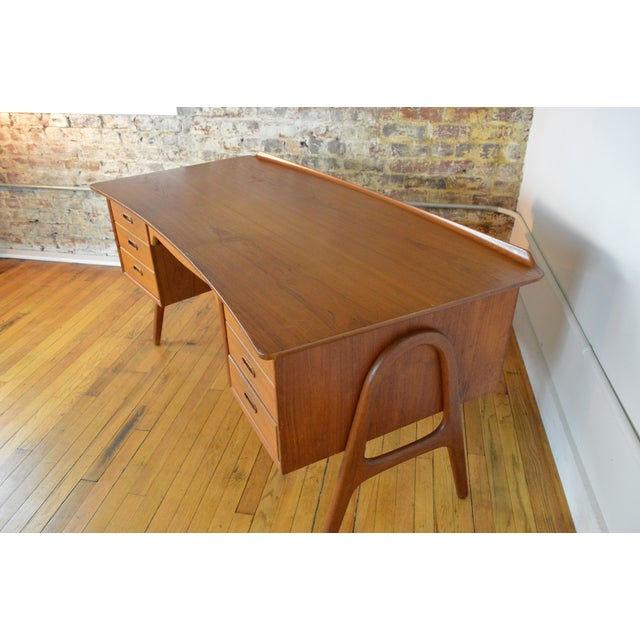 Danish Modern Svend Madsen Model Sh 180 Danish Modern Teak Writing Desk For Sale - Image 3 of 10