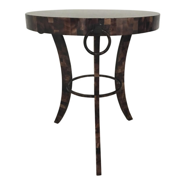 Eric Brand Tortoise Shell Side Table - Image 1 of 6
