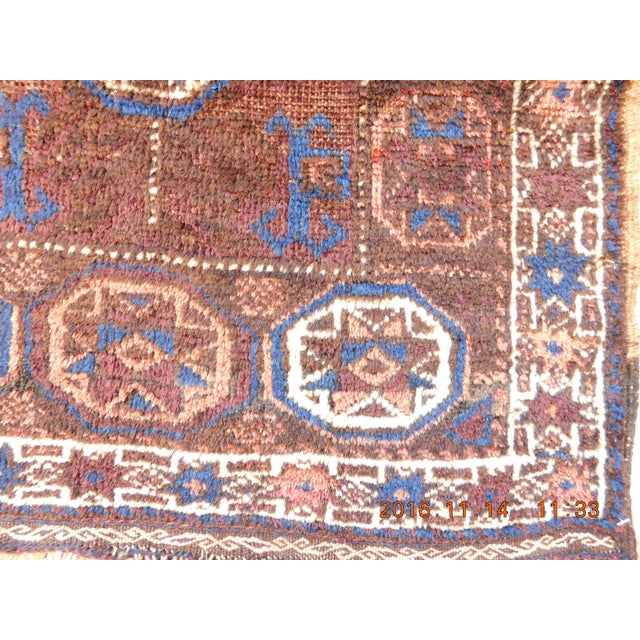 Antique Persian tribal rug. Origin: South East Persia, Baluchistan Material: Wool pile
