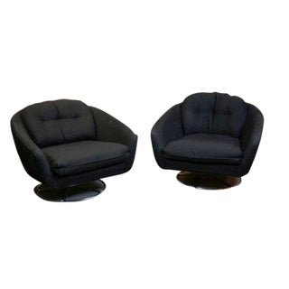 1970s Vintage Lotus Leaf Selig Lounge Chairs- a Pair For Sale