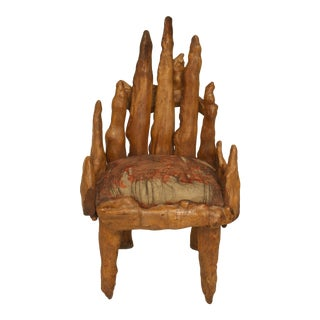 Rustic Cypress Root Child Chair For Sale