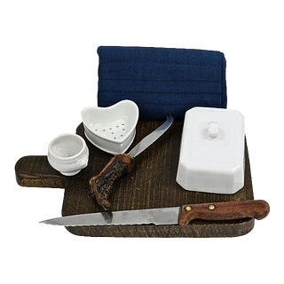 Antique French Charcuterie Set For Sale