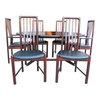 Danish Moden Rosewood Dining Set For Sale