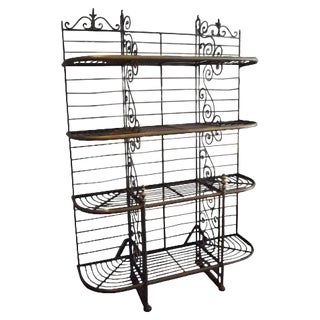 Vintage Parisian Baker's Rack For Sale