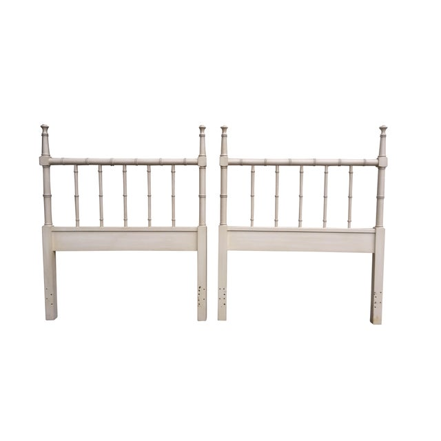 Faux Bamboo Twin Headboards - Pair - Image 1 of 4