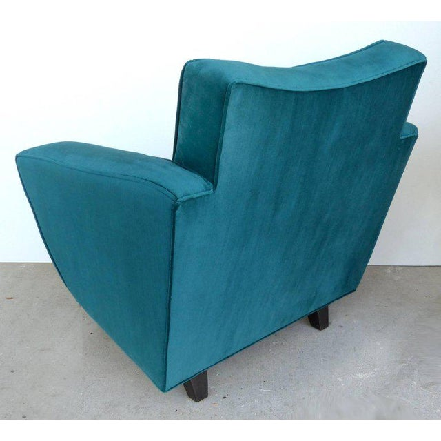 Thayer Coggin Thayer Coggin Club Chairs in Velvet - A Pair For Sale - Image 4 of 10