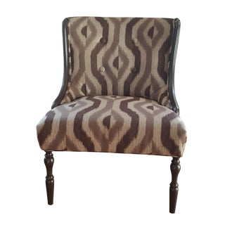 Vintage Gray & Silver Accent Chair