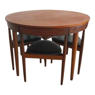 1960s Danish Modern Hans Olsen for Frem Rojle Teak Dining Set - 5 Pieces For Sale