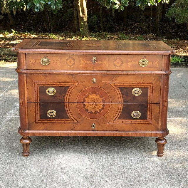 Antique Italian Marquetry Commode For Sale - Image 13 of 13