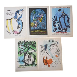 Vintage Mid 20th C.Marc Chagall Lithographs-Folio Size-Set of 5 For Sale