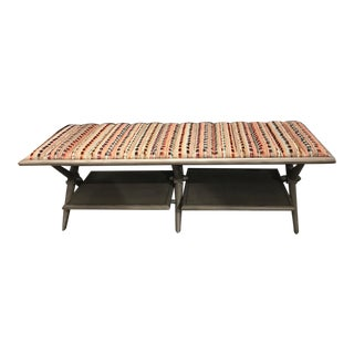 2010's Fulham Walnut Bench For Sale