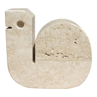 Mid-Centruy Italian Travertine Snail Sculpture by Fratelli Manelli For Sale