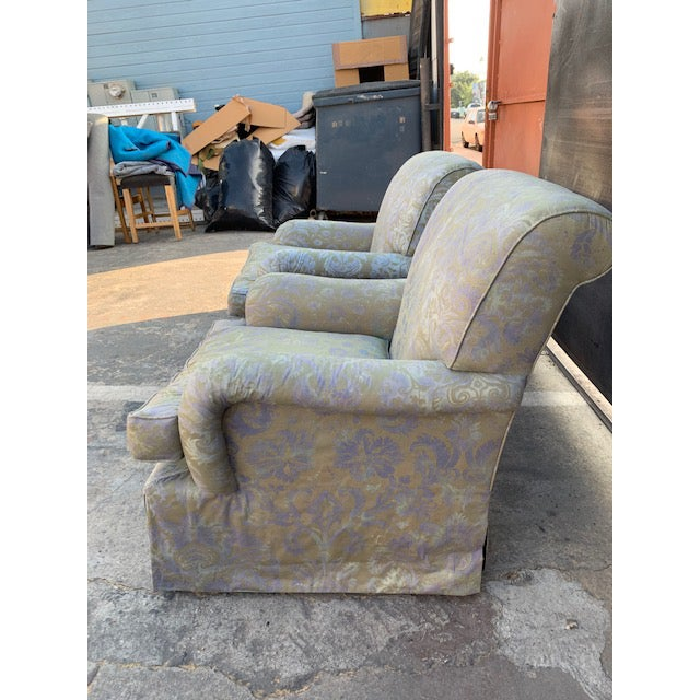 Mariano Fortuny Italian Fortuny Swivel Chairs - a Pair For Sale - Image 4 of 10