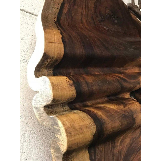 Brown Free-Form Tropical Hardwood Wall Sculpture For Sale - Image 8 of 9