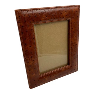 Lux Bond & Green Leather Photo Frame For Sale