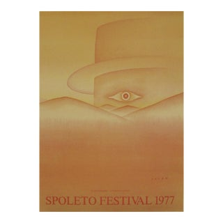 Original French Poster, Jean Michel Folon, Spoleto Festival 1977