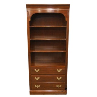 """Ethan Allen Georgian Court Collection 34"""" Bookcase / Wall Unit For Sale"""
