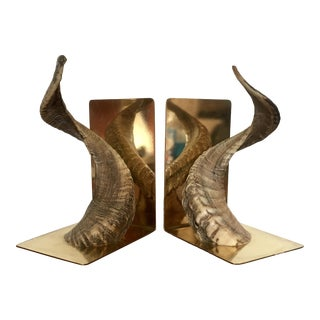 Carl Aubock Horn Bookends For Sale