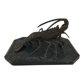 Wonderfully Cast Bronze French Lobster For Sale