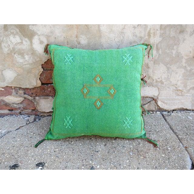 Moroccan Sabra Cactus Silk Pillow - Image 2 of 3