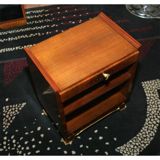 1930s Jules Leleu Pair of French Art Deco Side Tables For Sale - Image 5 of 9