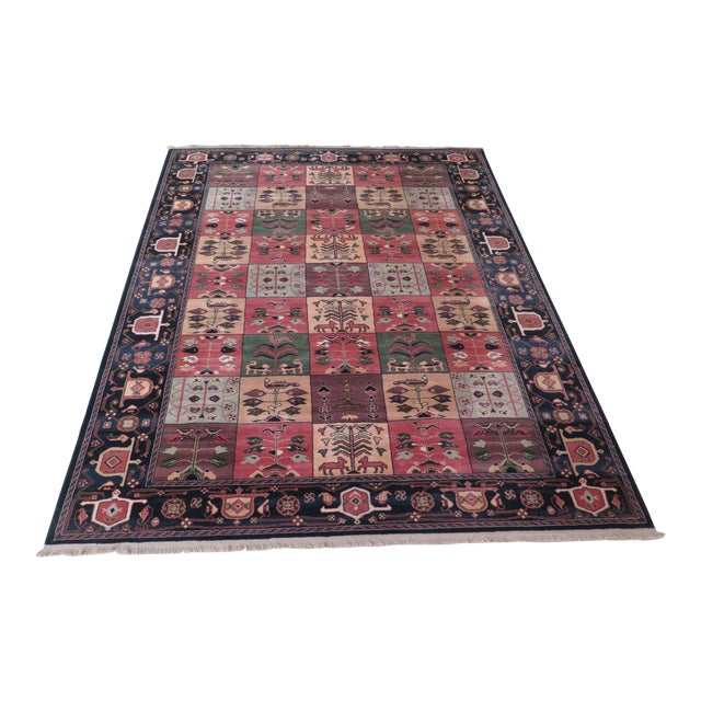 1990s Vintage Karastan Pictorial Rug- 8′7″ × 11′6″ For Sale