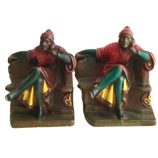Pair of Dante Bookends For Sale