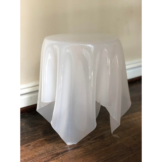 Acrylic Handkerchief Table For Sale - Image 10 of 13